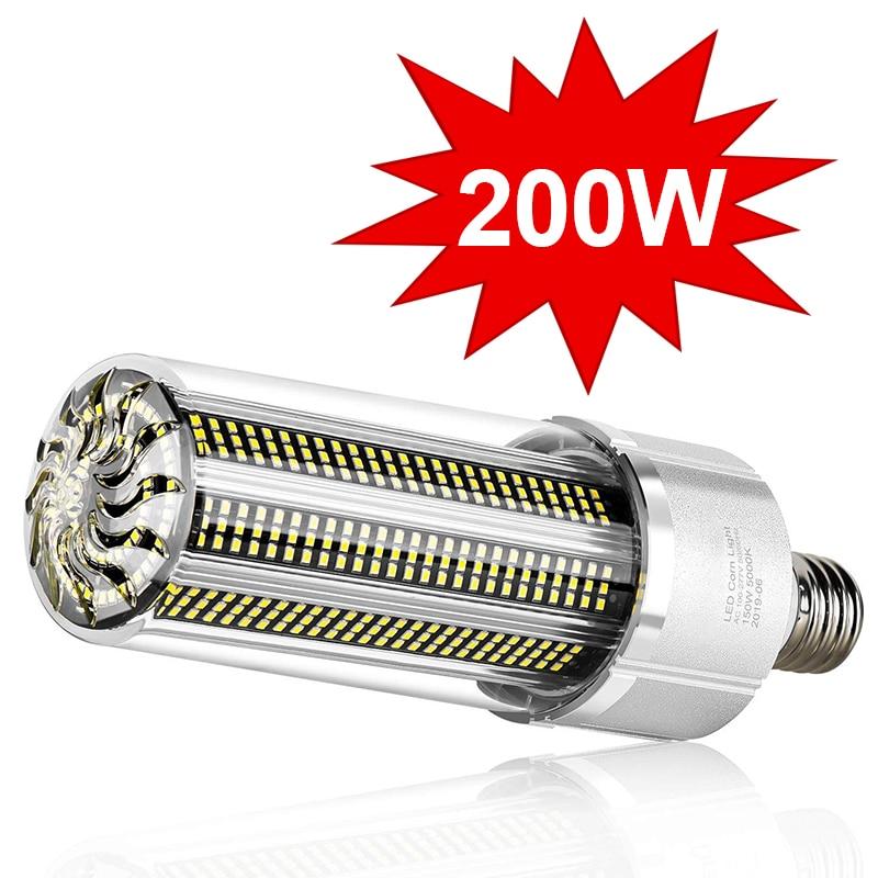 Super Bright LED E27 Corn Bulb 25W-200W LED Lamp 110V 220V Smart IC E39 E40 Big Power For Outdoor Playground Warehouse Lighting