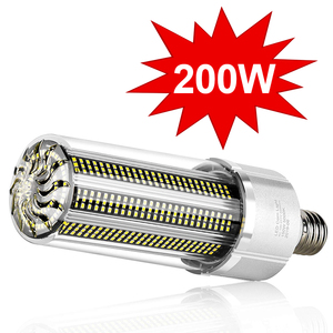 Image 1 - Super Helle LED E27 Mais Birne 25W 200W LED Lampe 110V 220V Smart IC E39 e40 Big Power Für Outdoor Spielplatz Lager Beleuchtung