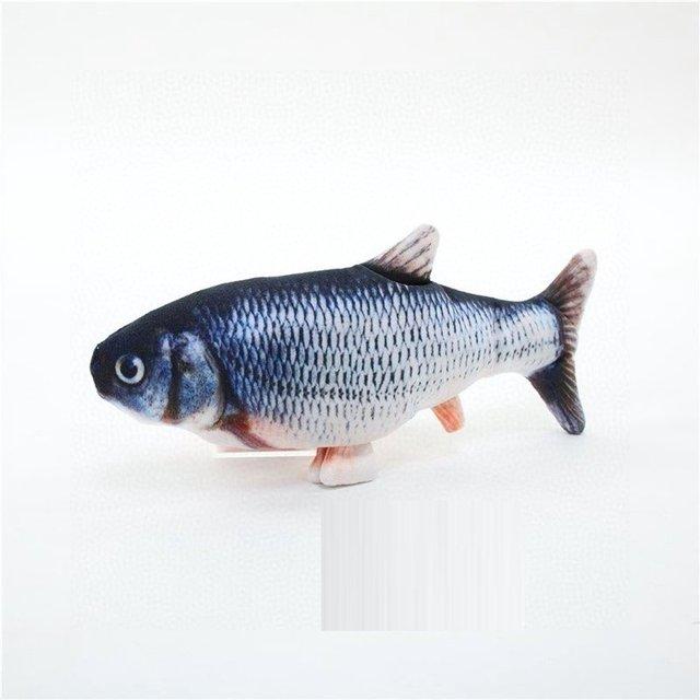 Фото электронная игрушка для кошек 3d рыба электрическая имитация цена