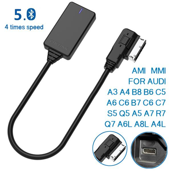 AMI MMI MDI Wireless Aux Bluetooth Adapter Cable Audio Music Auto Bluetooth For Audi A3 A4 B8 B6 Q5 A5 A7 R7 S5 Q7 A6L A8L A4L