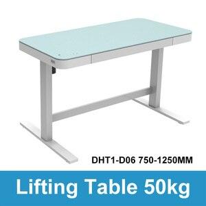 Image 2 - Computer da tavolo di sollevamento elettrico per bambini da tavolo colonna di sollevamento gambe gambe mobili tavolo scrivania intelligente staffa di sollevamento regolabile in altezza