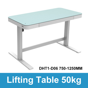 Image 2 - Elektryczny stolik pod komputer podnoszenia dzieci kolumna podnoszenia nogi do stołu meble stół biurko inteligentny regulowana wysokość podnoszenia uchwyt