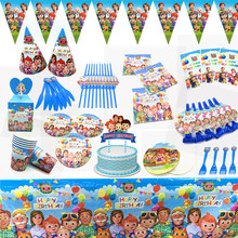 Cocomelon Theme Party Supplies Party Decoration Birthday Paper Cups Plates Banner Straw Balloons Kids Toys Boy Baby Shower(China)