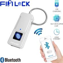 Fipilock Bluetooth Smart Keyless Fingerprint Lock Waterproof With Finger Print Security Touch USB Charge