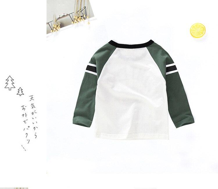 New Spring Boys Girls Cartoon Cotton T Shirts Children Tees Boy Girl Long Sleeve T Shirts Kids Tops Brand Baby Clothes 12M-8Y 22