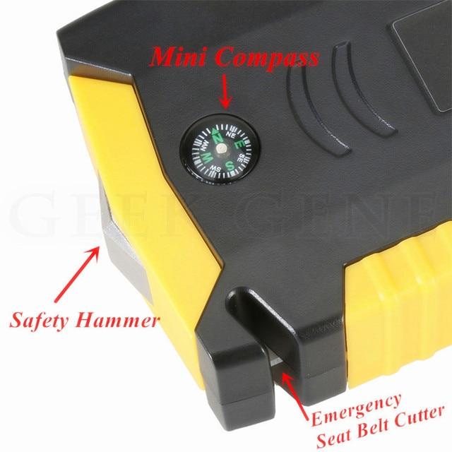GKFLY Super puissance dispositif de démarrage 12V 600A voiture saut démarreur batterie externe chargeur de voiture pour voiture batterie Booster pour essence Diesel LED 4