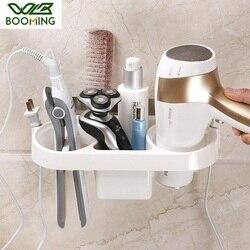 Wbboom plastikowy uchwyt ścienny suszarka do włosów do łazienki przyklejony dmuchawa suszarka do włosów wiszące organizator stojaków łazienka Ware Rack
