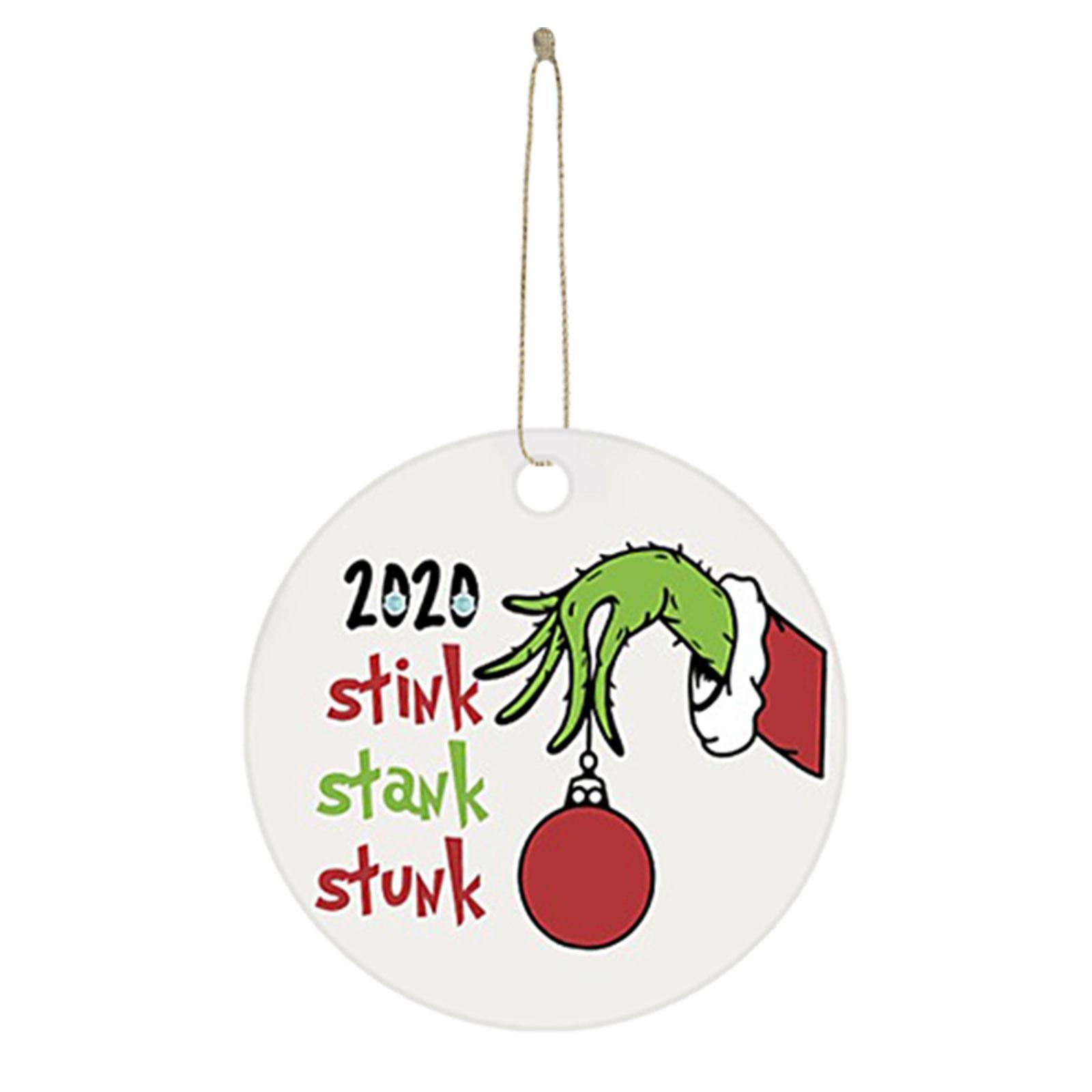 Украшение в виде маски со вкусом 2020, рождественские украшения для рук в три дюйма, рождественское подвесное украшение, подвесной кулон в вид...