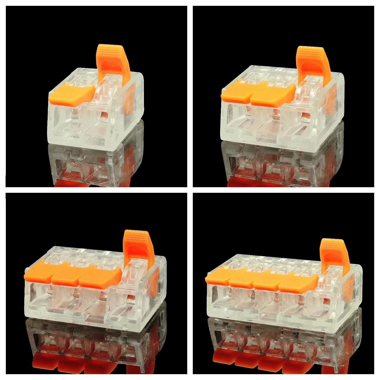 30/50 piezas reemplazan los conectores de cable rápido Mini de la serie 221, Conector de cableado compacto Universal, push-en bloque de terminales Montaje neumático conector de empuje rápido tipo UE acoplador de alta presión trabajo en compresor de aire estándares europeos de alta calidad
