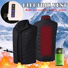 Жилет с электроподогревом для мужчин и женщин Тепловая Теплая одежда с Usb подогревом открытый жилет зимняя куртка с подогревом