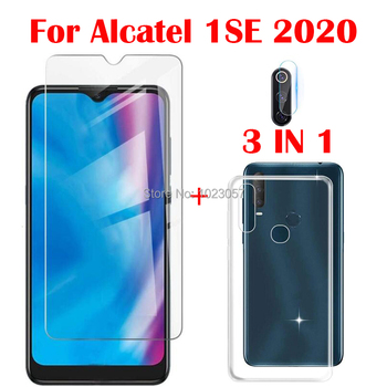 3-in-1 Case + Camera Tempered Glass On For Alcatel 1SE 2020 ScreenProtector Glass For Alcatel 1SE 2020 3D Glass