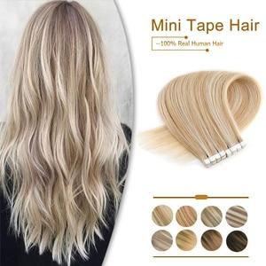 Прямые волосы для наращивания ZURIA, невидимые накладные волосы, смешанные цвета, 12, 16, 20 дюймов, 100% натуральные волосы