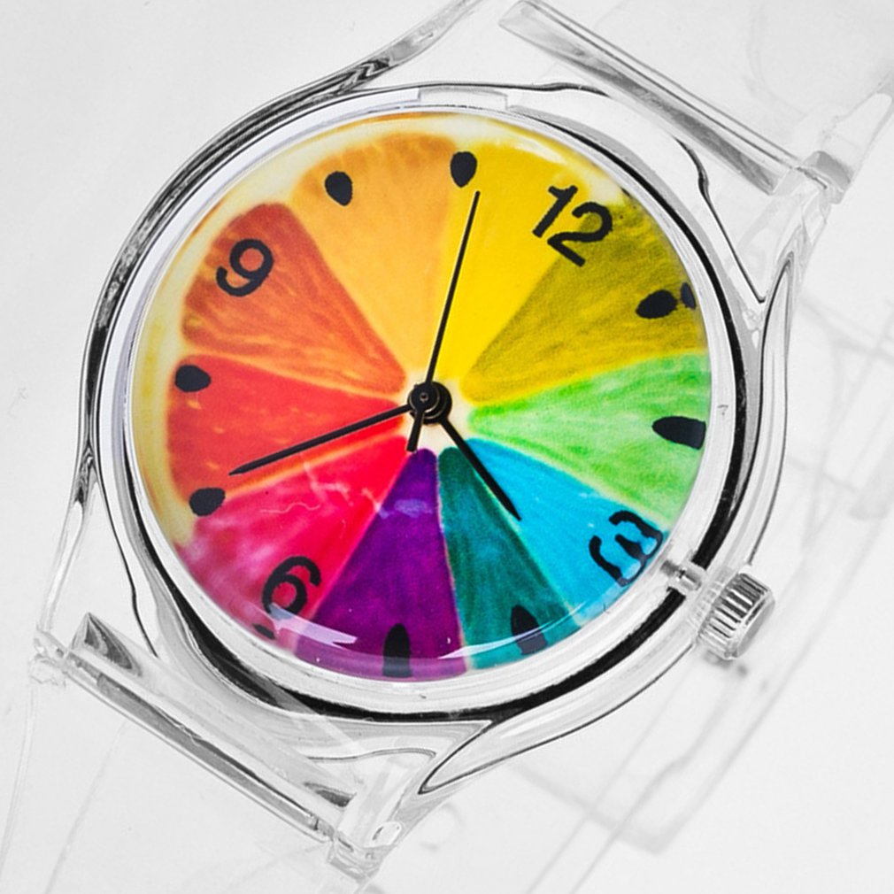 Teen Quartz Watches Multi-colors Luminescent Personality Fruit Print Silicone Atmospheric Fashion Boys Girls Watch Children Kids