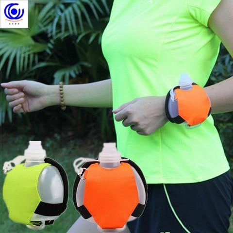 Mini Outdoor Wrist Running Water Bottle Sports Kettle Marathon Riding Fitness Climbing Special Night Drinking Fluorescence 200ml Lahore