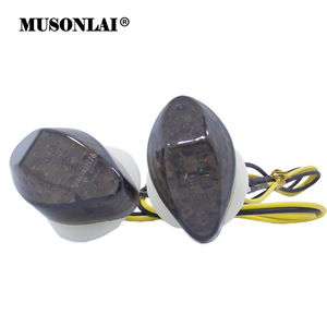 Motorcycle Flush Mount LED Turn Signals Indicator Blinker Light Amber Flasher for Honda CBR 600 F4 F4i CBR600RR CBR1000RR