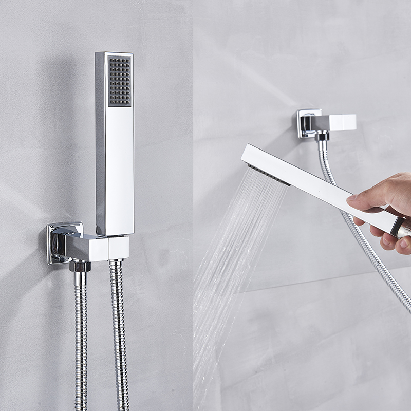 Hdb3ed11caf1146969990d858886ba97e7 Suguword Chrome Concealed Bathroom Shower Faucet Set 8''10''12''16'' Rainfall Shower Head Wall Mounted Hot and Cold Mixer Tap