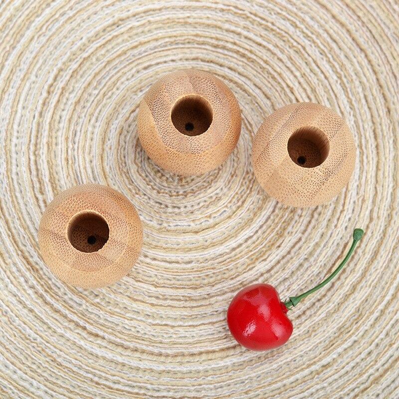 bambu escova de dentes titular redondo natural