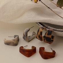 Moda Coreana de acrílico aro pendientes geométrico Irregular Plaza ácido acético Brincos de aro oorringen joyería regalos de fiesta
