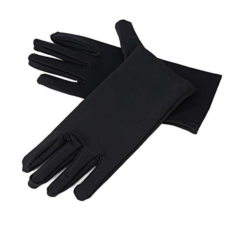 Men'S Sun Gloves Spring And Autumn Black And White High-Quality Spandex High Elasticity Thickening Men'S Etiquette Sun Gloves