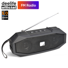 Deelife Portable Wireless Bluetooth Speaker 10W Stereo Music Surround Outdoor Loudspeaker Support TWS Speakers with FM Radio top mifa portable bluetooth speaker portable wireless loudspeaker sound system 10w stereo music surround waterproof outdoor
