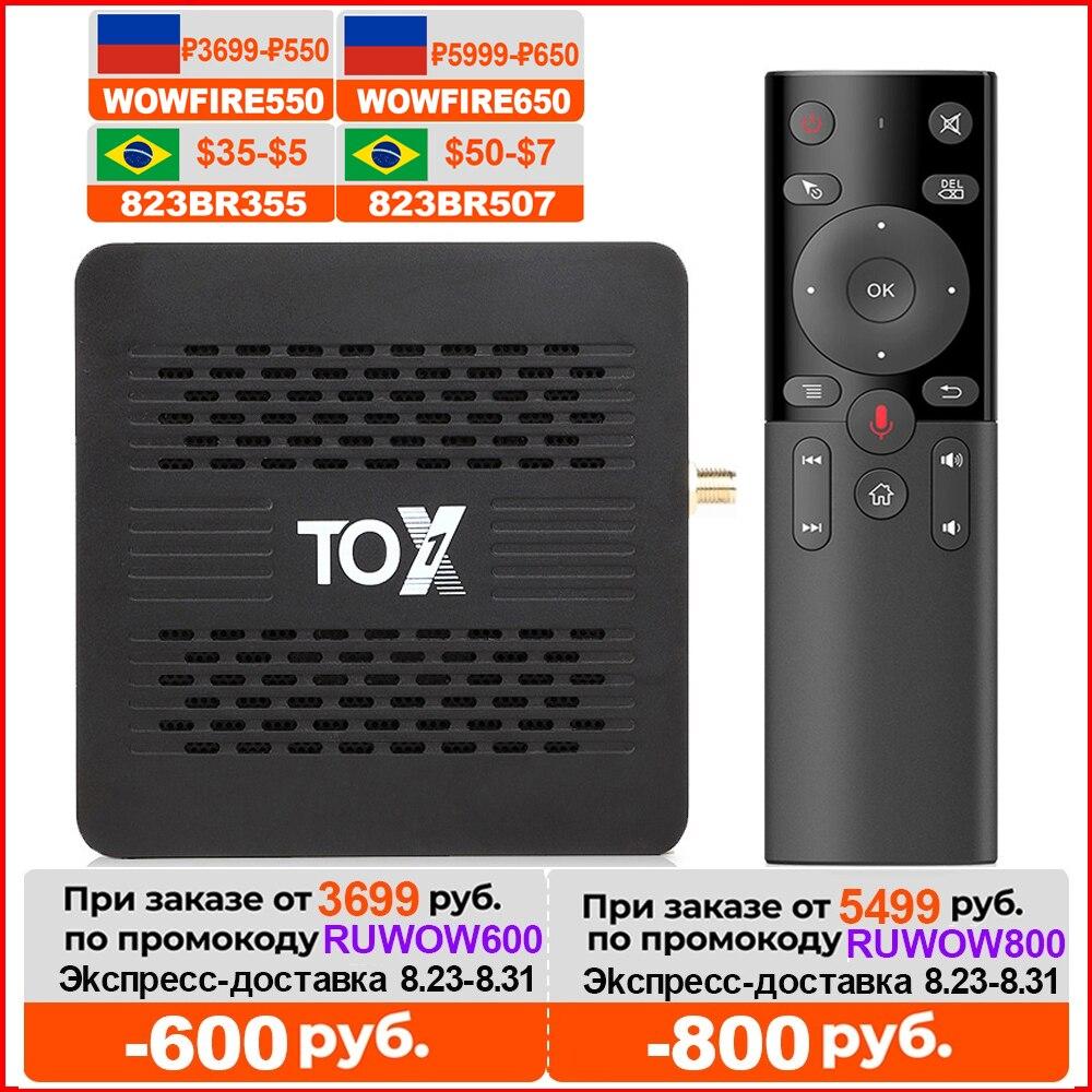 TOX1 Android Tv box 9 Smart Tv box 4 ГБ 32 ГБ tox 1 Amlogic S905X3 1