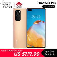 Pre sale Global Version Huawei P40 5G Smartphone Kirin 990 8GB 128GB 50MP Triple Camera 6.1 inch Android10 22.5W SuperCharge NFC