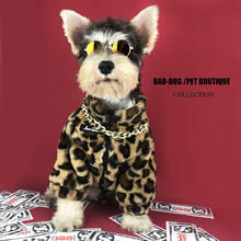 Winter Leopard pluszowe miejsca pies bluza z kapturem odzież dla zwierząt stylowa bawełniana bluza moda strój dla psów koty Puppy mały średni garnitur tanie tanio CN (pochodzenie) Polar Jesień zima YYPET 100 Cotton Dog Hoodie Dog Jacket Small Puppy Big Dog French Bulldog Can drop shipping