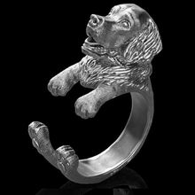 1 шт Новое модное золотистое кольцо ретривер свободного размера