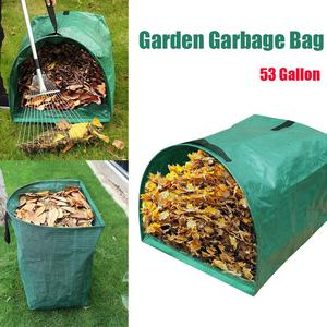 53 Gallon Garden Deciduous Bag Reusable for Collecting Leaves Garden Garbage Bag with Handrail Yard Waste Bag горшки для цветов