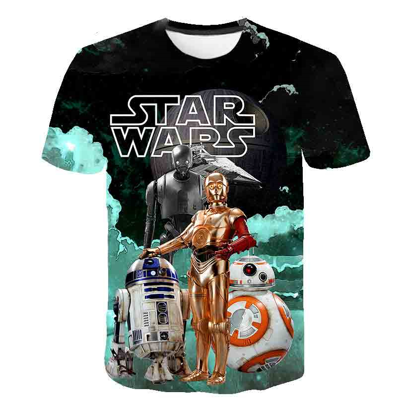 T-Shirts Short-Sleeved-Tops Morty Girls Star-Wars Children's Printed Boys Cartoon Summer