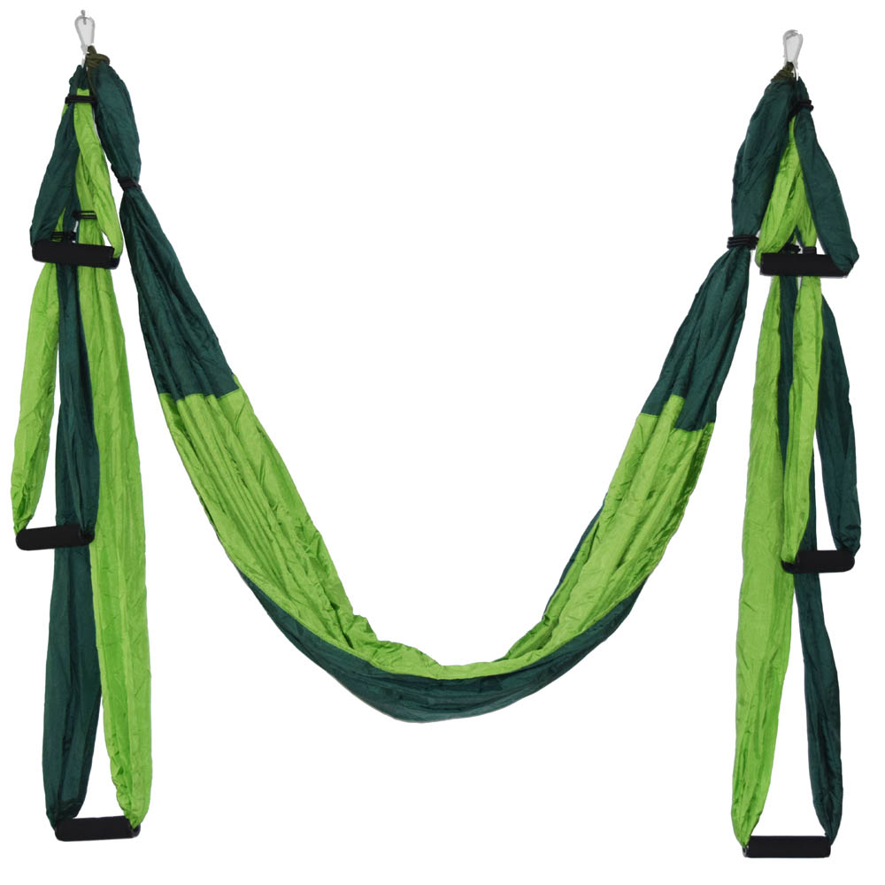 Ny 20-färgs styrka dekomprimeringsyoga Hängmatta Inversion Trapeze Anti-Gravity Aerial Traction Yoga Gym-rem yoga Swing set