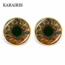 Karairis винтажные Яркие Цветные Стеклянные Кабошоны серьги