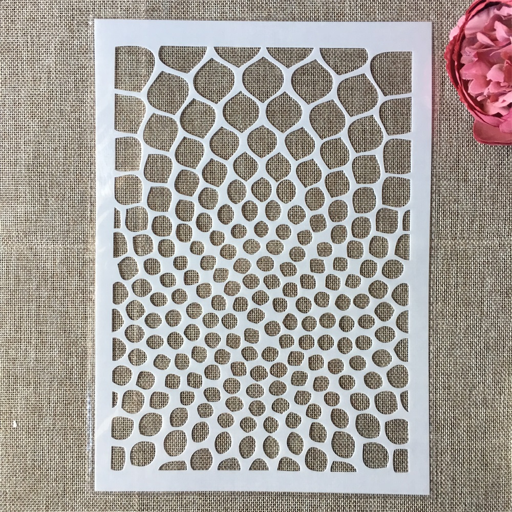 29cm A4 Round Geometry Texture DIY Layering Stencils Wall Painting Scrapbook Coloring Embossing Album Decorative Template