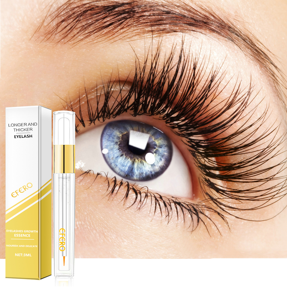 efero Powerful Eyelash Growth Essence Eyelash Enhancer Serum Natural Longer Thicker Eye Lash Extension for Women Makeup Cosmetic