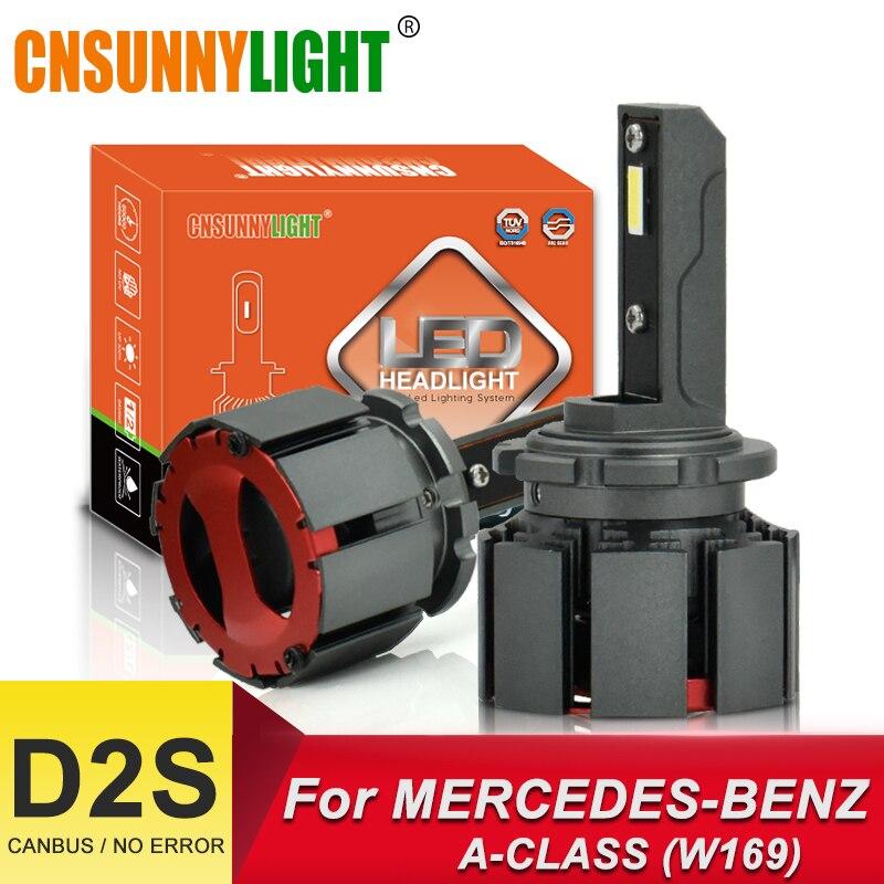 CNSUNNYLIGHT D1S D2S LED ampoules de voiture Canbus phares 10000Lm 70 w/paire pour Mercedes Benz A-CLASS W169 W176 automobile lumière 6000K