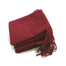 50pcs 7x9cm Velvet Drawstring  Bag/Jewelry Bag Christmas/Wedding Gift Bags Dark Red Wholesale