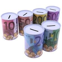 Money-Box Piggy-Bank Coins Deposit Euro Home-Decoration Dollar for 1pc Safe-Cylinder