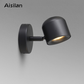 Aisilan Wall Lamp Modern Style Wall light Adjustable Black/White 7W for Bedside Bedroom Mirror Light Corridor sconce AC90-220V