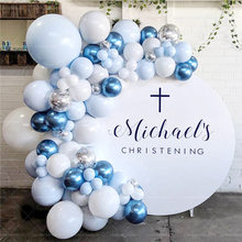 102 Uds Globo Azul set de guirnaldas blanco azul globo metálico arco boda cumpleaños graduación bebé ducha fiesta de aniversario