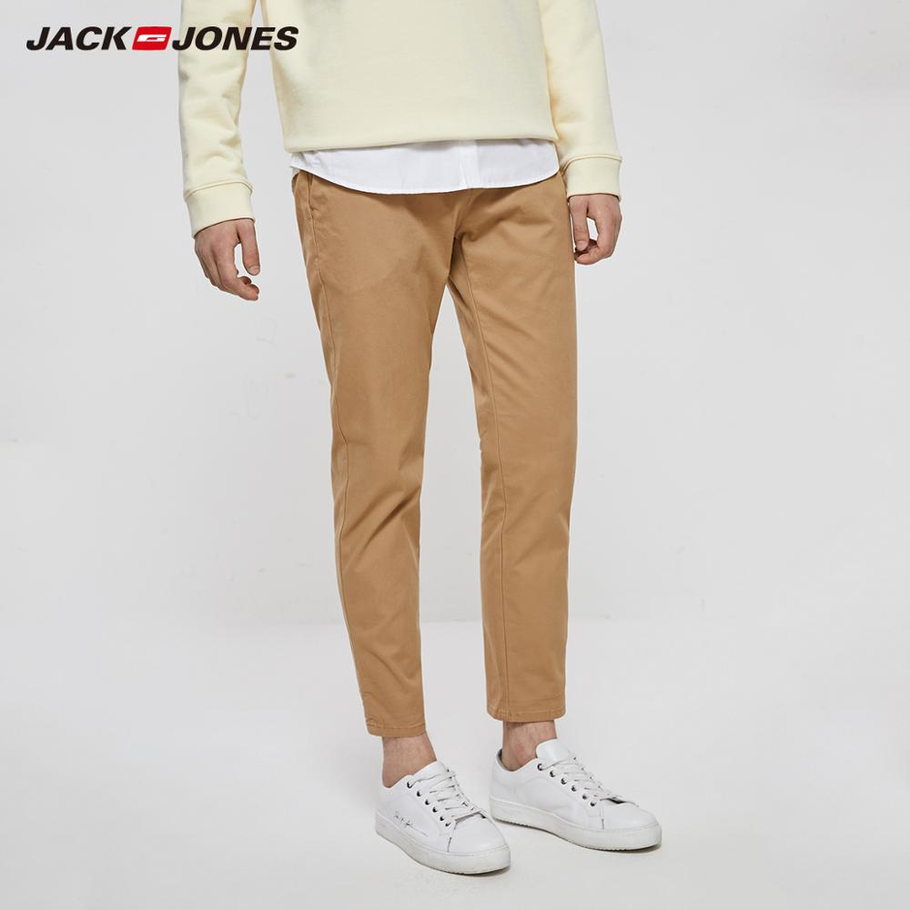 JackJones Men's Cotton Business Casual Slim Fit Pants Basic 218314579