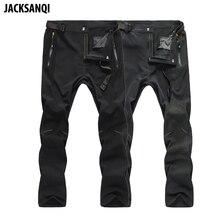 JACKSANQI Mens Pants Summer Quick Dry Elastic Waterproof Ultra-thin Outdoor Sport New Men Hiking Trekking Trousers RA239