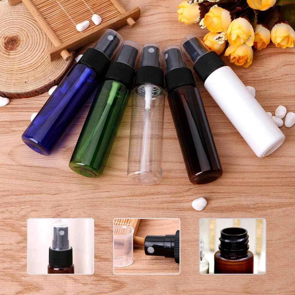 Mini pulverizador portátil de 30 ml, atomizador de prensa rellenable, botella de viaje de Perfume transparente, azul, verde, blanco, marrón