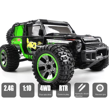 1:10 Full-scale Four-wheel Drive Remote High-speed Off-road Vehicle 2.4G Rock Crawlers RC Climbing Desert Car RC Car 1