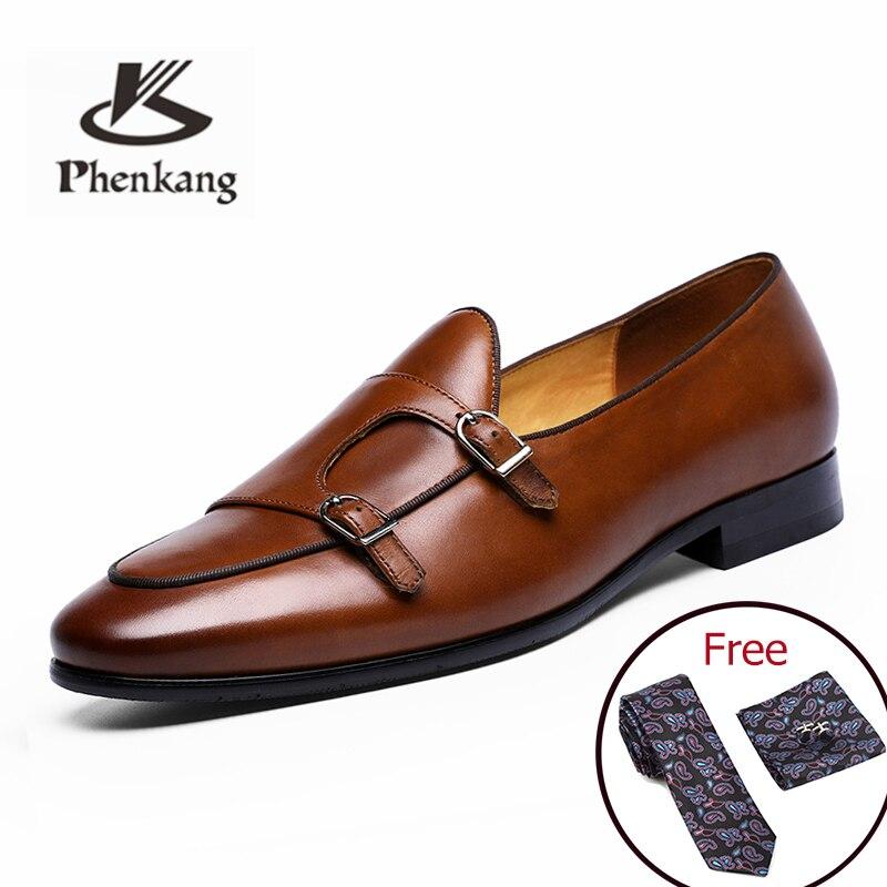 Hommes chaussures formelles en cuir oxford chaussures pour hommes s'habillant mariage hommes chaussures de bureau brogues boucle mâle zapatos de hombre-in Chaussures d'affaires from Chaussures    1