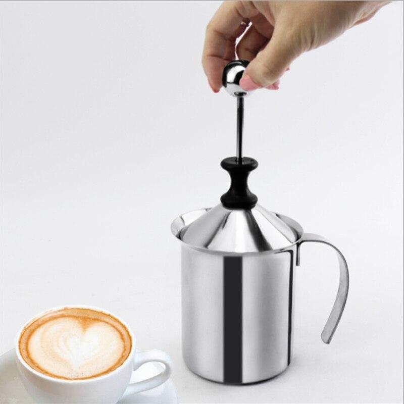 Acier Inoxydable Manuel Double Maille Mousseur /À Lait Mousse Maker Caf/é Cappuccino D/écoration Outil 800ML Alinory Mousseur /À Lait