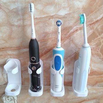 Elektryczny uchwyt na szczoteczki do zębów uchwyt do montażu na ścianie elastyczny uchwyt chroń uchwyt szczoteczki do zębów oszczędzaj miejsce utrzymuj suchy Stop pleśń uchwyt na szczoteczki do zębów tanie i dobre opinie CN (pochodzenie)