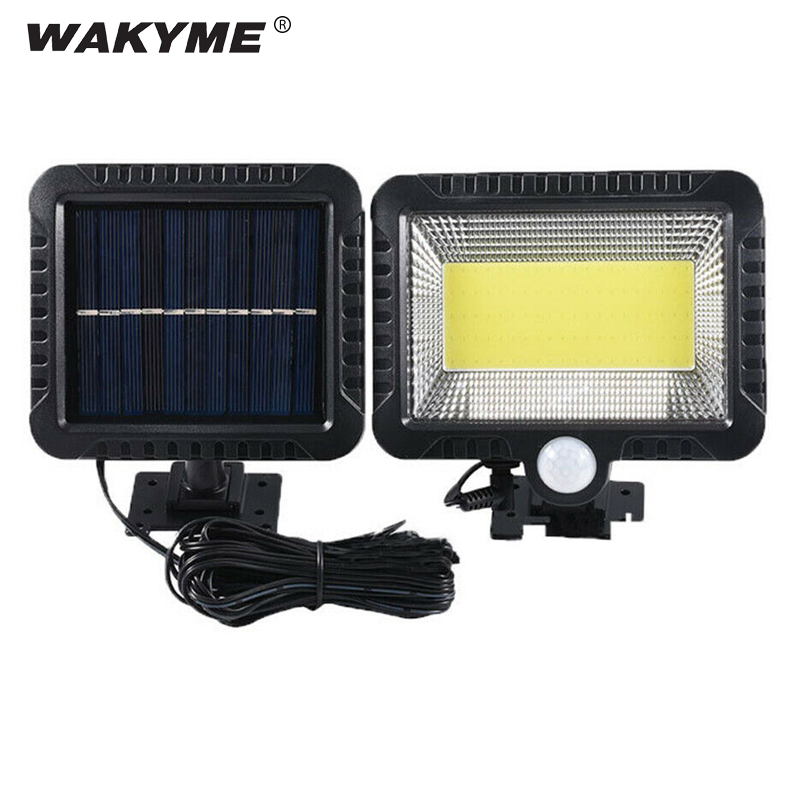 WAKYME 100 LED Solar Wall Light Outdoor Waterproof Garden Light PIR Motion Sensor Solar Lamp Solar Powered Infrared Sensor Light