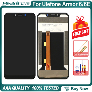 Image 1 - BingYeNing For Ulefone Armor 6 6E LCD&Touch screen Digitizer with frame display Screen phone accessories assembly replacement