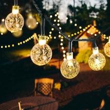 Corda da lâmpada solar led string luzes de fadas energia solar duas funções guirlandas jardim decoração natal luz para ao ar livre