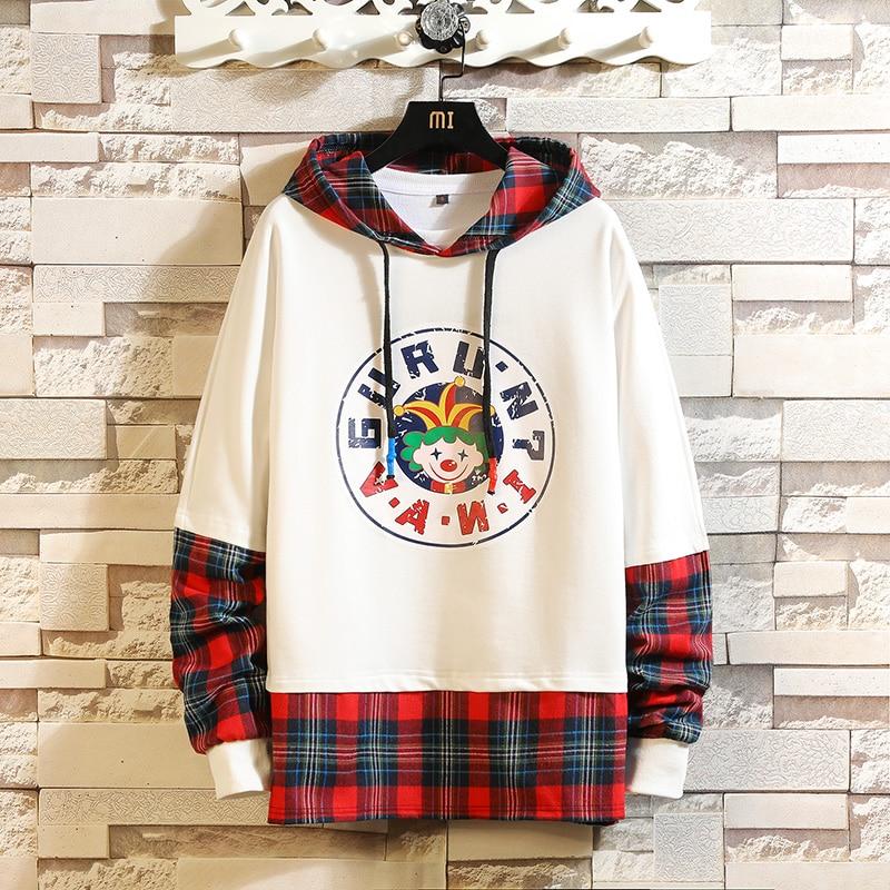 2019 Japanese Streetwear Hoodies Man Crane Sun Print Mens Hoodies 2019 New Arrival  Hip Hop Sweatshirt Male